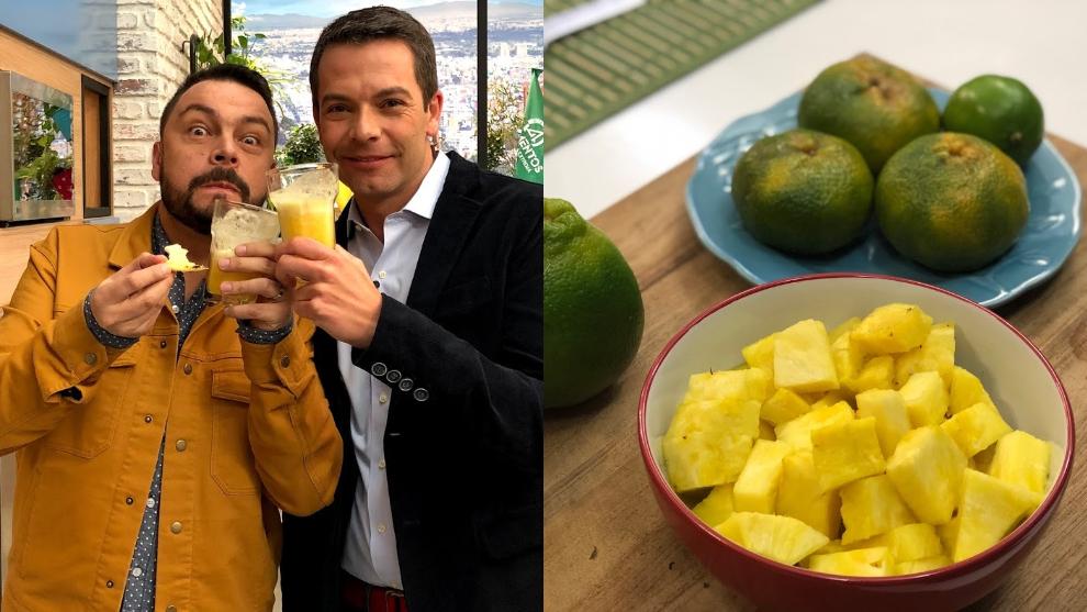 Zumo para aliviar gripa y tos: naranja, mandarina, piña y limón