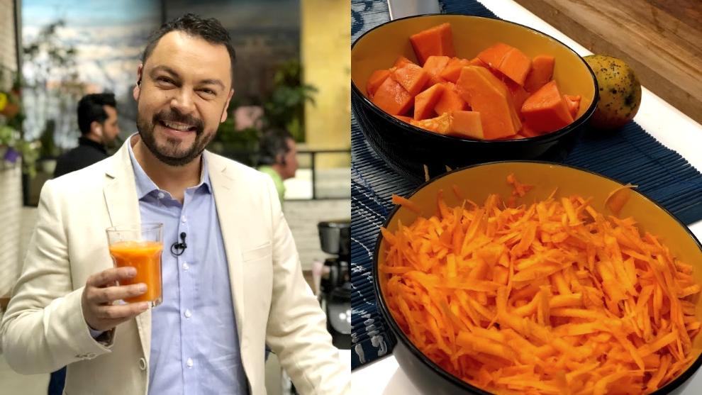 Zumo para tener un buen bronceado: mango, zanahoria y papaya