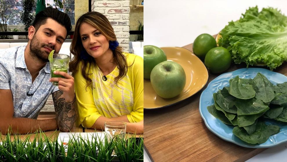 Zumo para el insonmio: espinaca, manzana, lechuga y limón