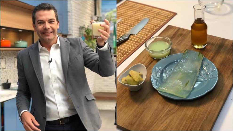 Zumo para equilibrar el ácido del cuerpo: sábila, limón y jengibre