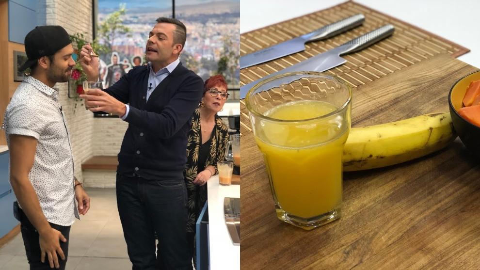 Zumo para las flatulencias: banano, papaya y naranja