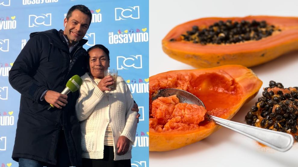 Zumo digestivo del día: papaya, avena en hojuelas, ciruelas