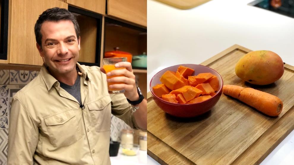 Zumo para la digestión: papaya, zanahoria y mango
