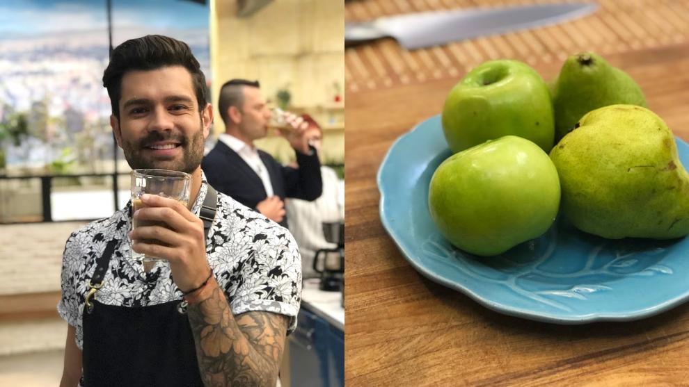 Zumo para limpiar el estómago: pera, manzana y ciruela