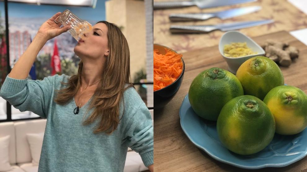 Zumo para renovar células: zanahoria, naranja y jengibre