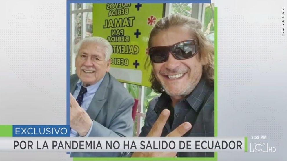 Víctor Hugo Cabrera y su padre.