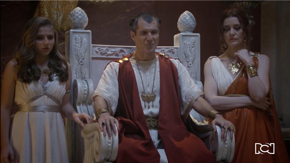 Poncio Pilatos recibe en sus manos el corbán