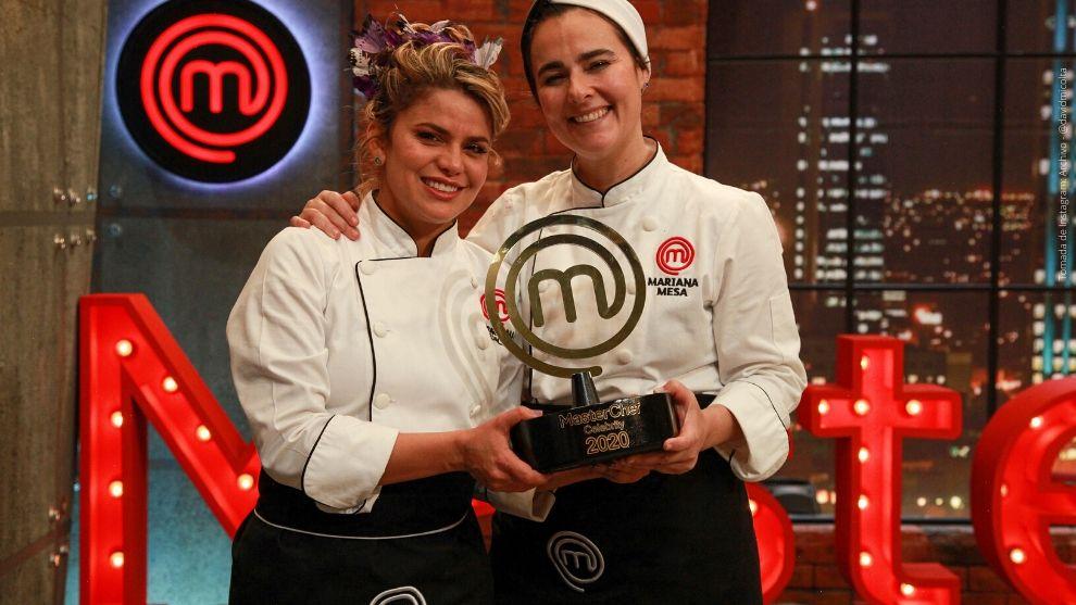 Adriana Lucía y Mariana Mesa de MasterChef Celebrity.
