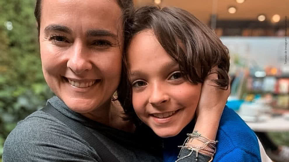 Mariana Mesa y su hijo Salomón