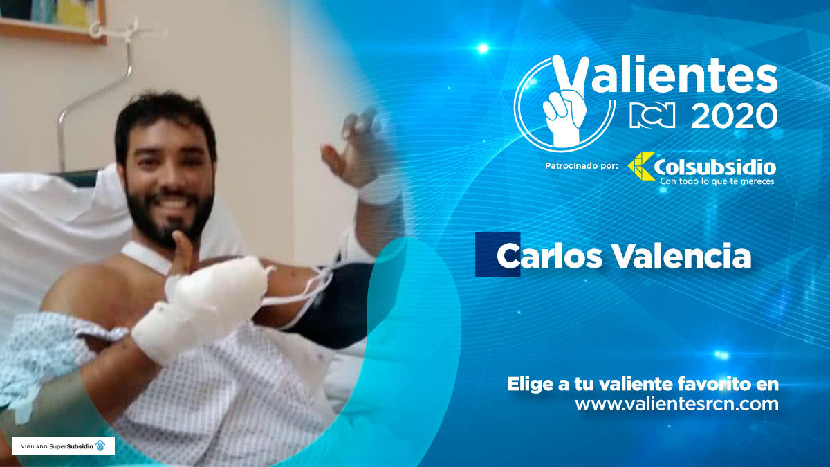 Carlos Valencia, sobreviviente de explosión en Beirut