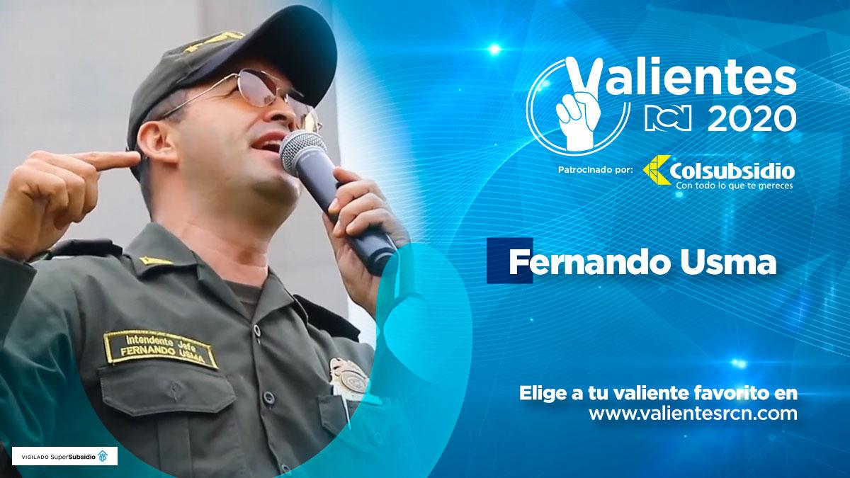 Fernando Usma, el policía de la esperanza