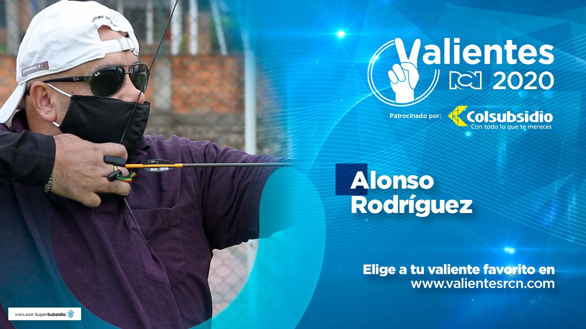 Alonso Rodríguez, invidente campeón de tiro con arco