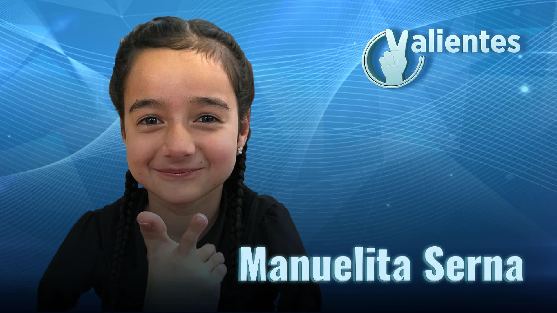 Manuelita, un ángel con alas símbolo de superación