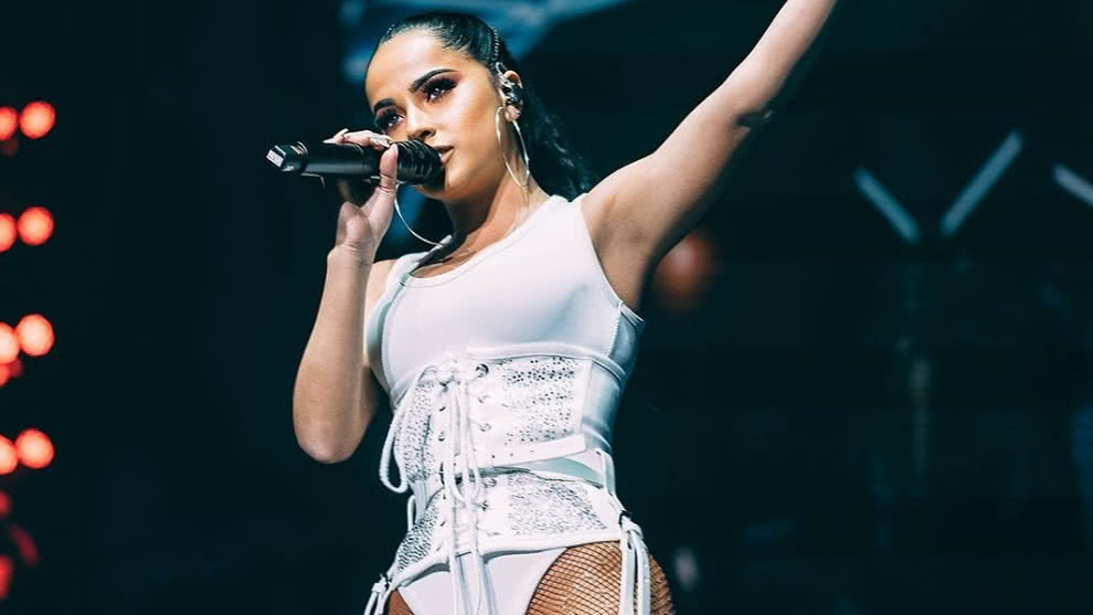 cantante becky g sin maquillaje