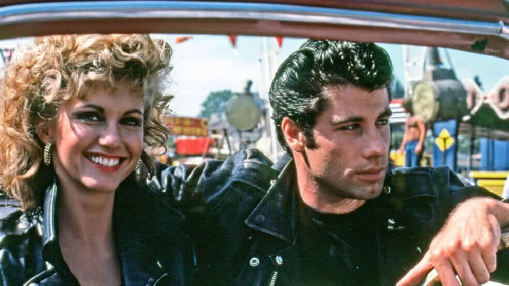 john travolta y olivia newton-john grease