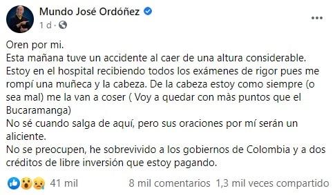 Accidente Jose Ordoñez 2