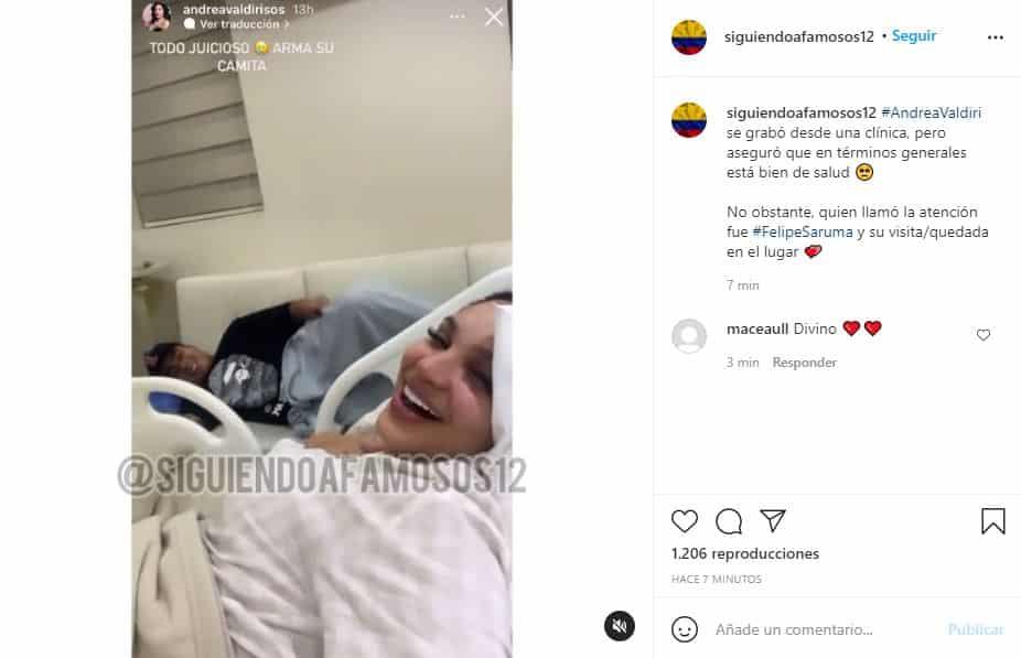 Andrea Valdiri es nuevamente hospitalizada y Saruma no la desampara