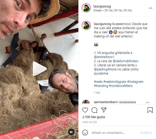 Laura Junco caída video