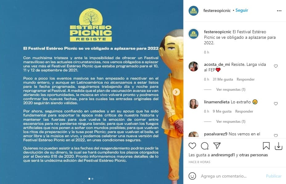 Aplazan Festival Estereo Picnic 2021