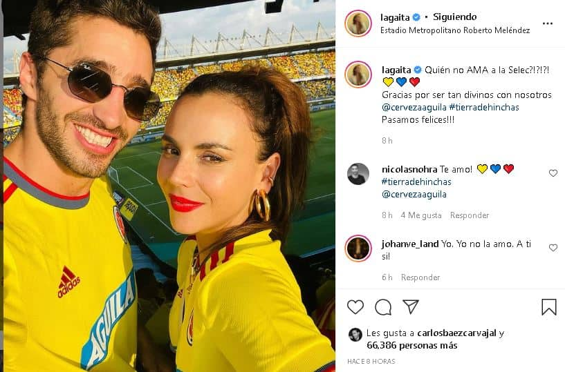 Carolina Gaitán y su novio