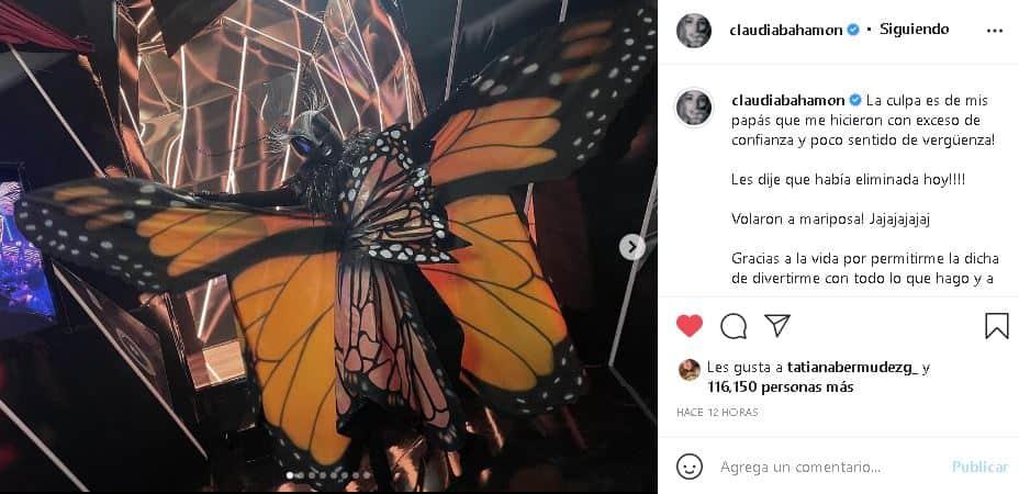 Claudia Bahamón en Quién es la Máscara