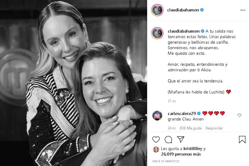 Claudia Bahamón mensaje a Alicia Machado