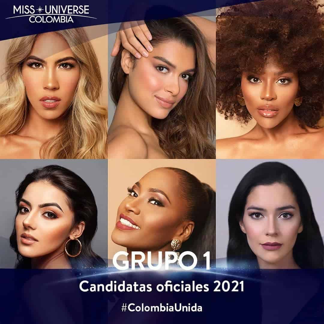 Candidatas Miss Universe Colombia 1