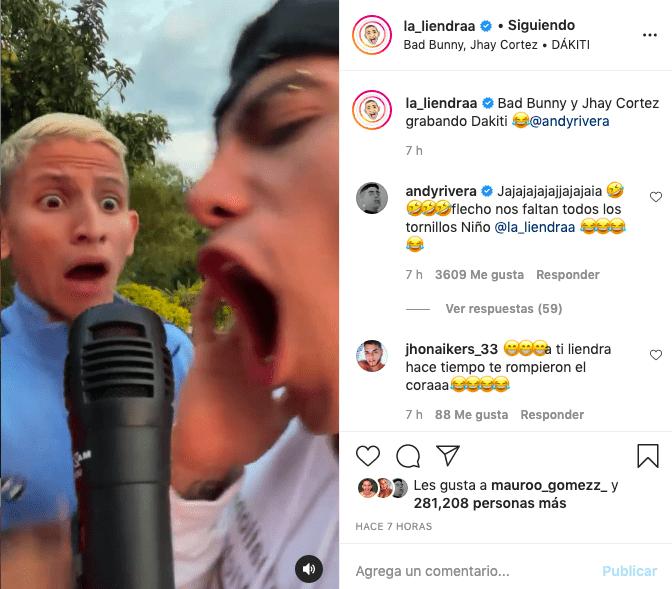 La Liendra y Andy Rivera divierten con clip al ritmo de Bad Bunny