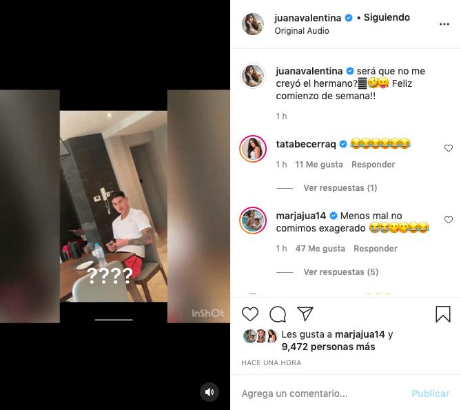 Juana Valentina graba reacción de James ante sus mentiras con el ejercicio