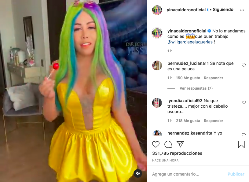 Con atractivo cosplay, Yina Calderón muestra el nuevo color de su pelo