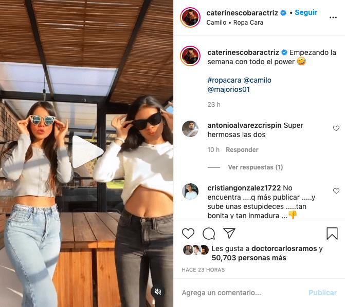 Caterin Escobar recibe críticas por bailar junto a su hija Ropa Cara