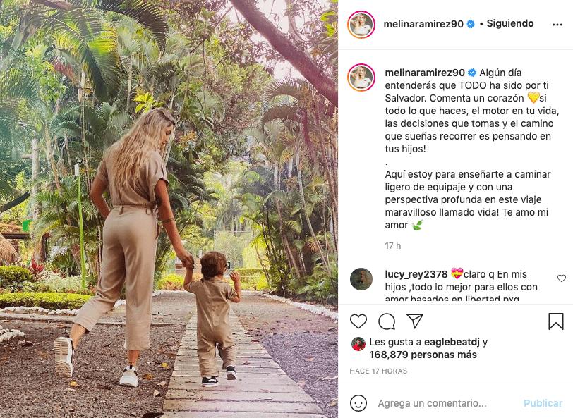 Melina Ramírez escribe emotivo mensaje a su hijo y hace llorar a fans