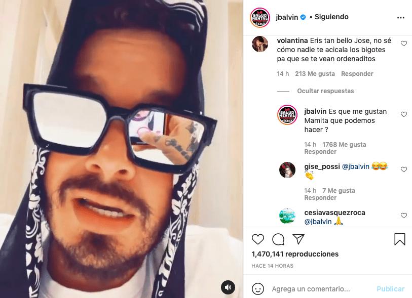 Así contestó J Balvin a quien criticó sus bigotes en un video