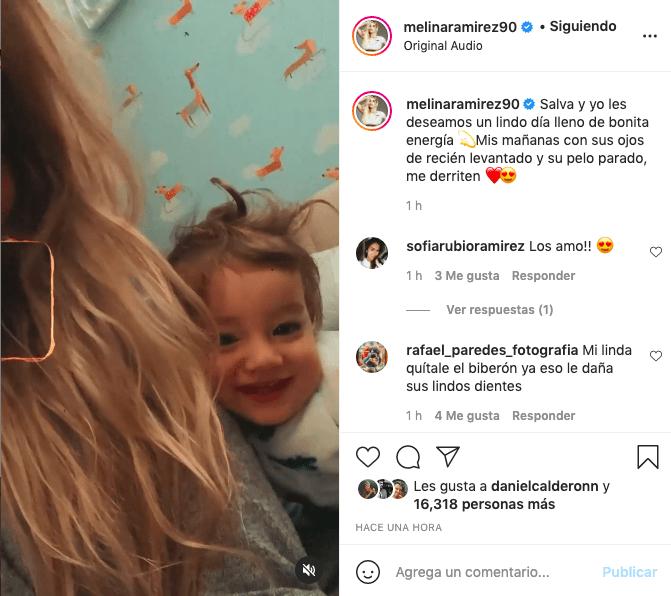 Melina Ramírez da los buenos días con tierno video junto a su hijo