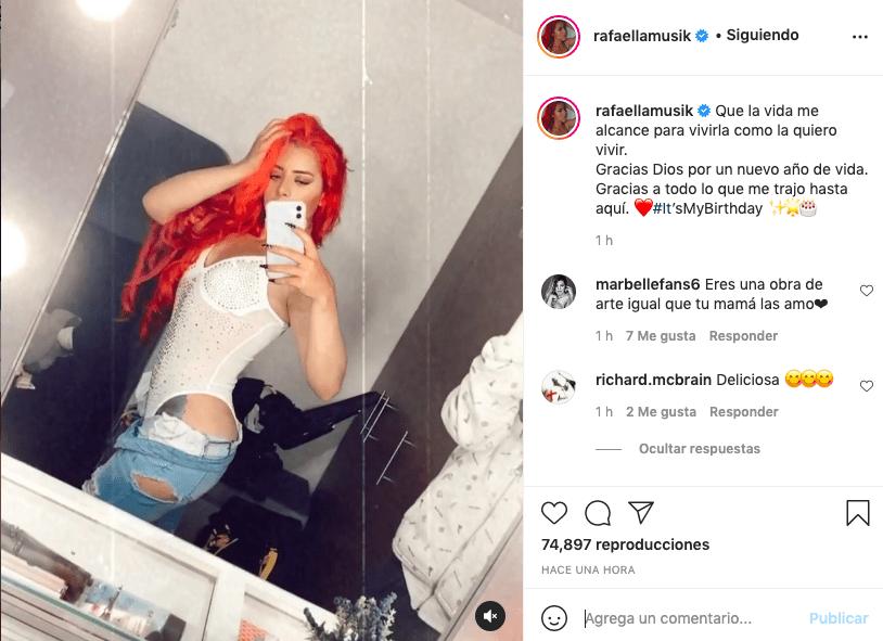 Con su pantalón abierto, hija de Marbelle comparte sugerente video