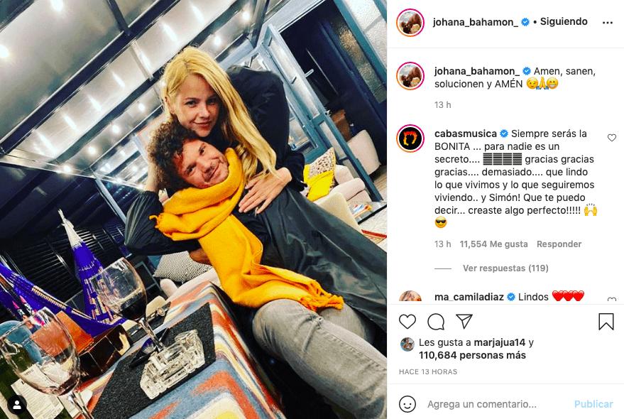 Johana Bahamón es admirada tras compartir foto con Cabas, su expareja