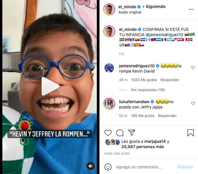 James Rodríguez comenta video de El Mindo tras hacer parodia a su nombre