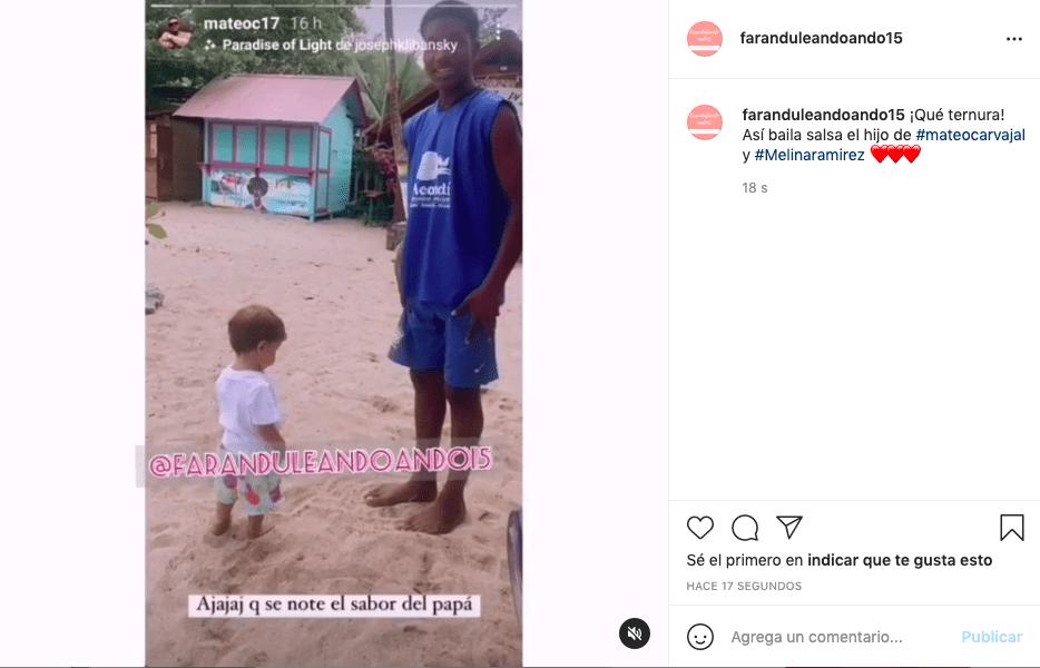 Hijo de Melina Ramírez y Mateo Carvajal sorprendió bailando salsa