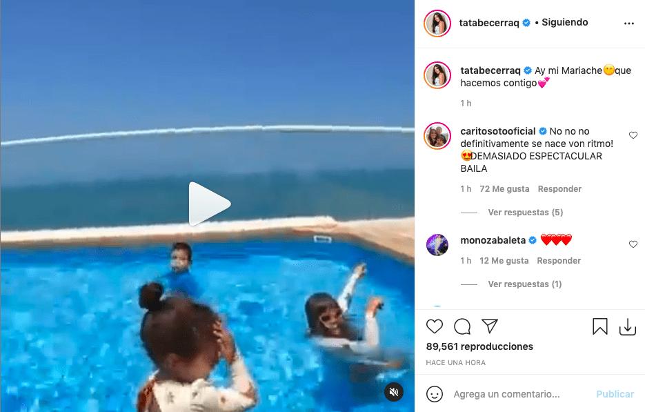 ¡Mucho sabor! Hija de Peter Manjarrés enamora tras bailar 'Vida de Rico'