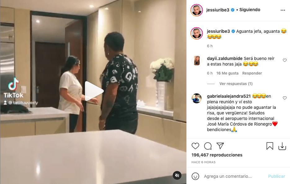 Jessi Uribe relata con divertido video la intimidad de sus papás