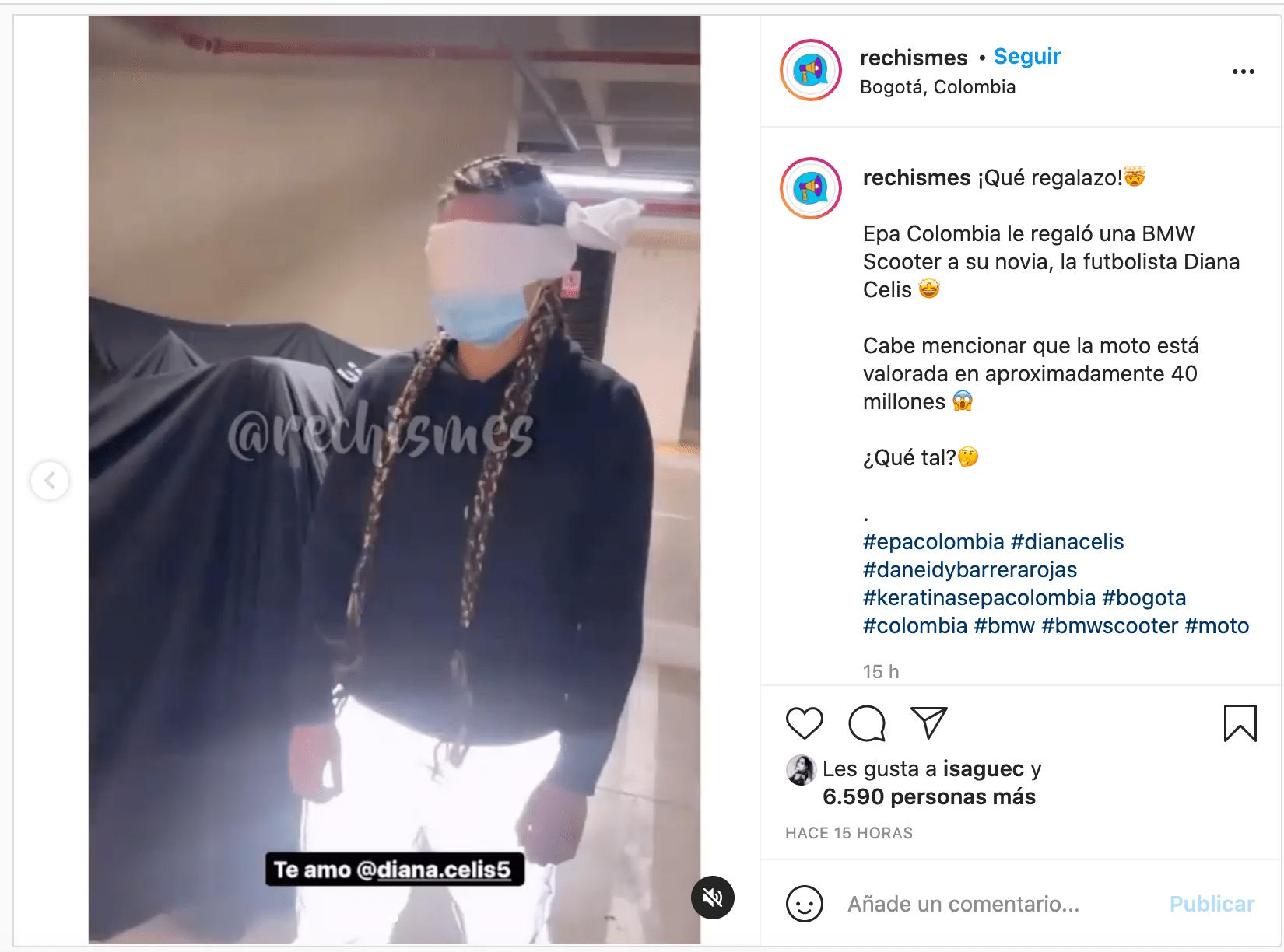 Lujoso regalo de Epa Colombia para su novia