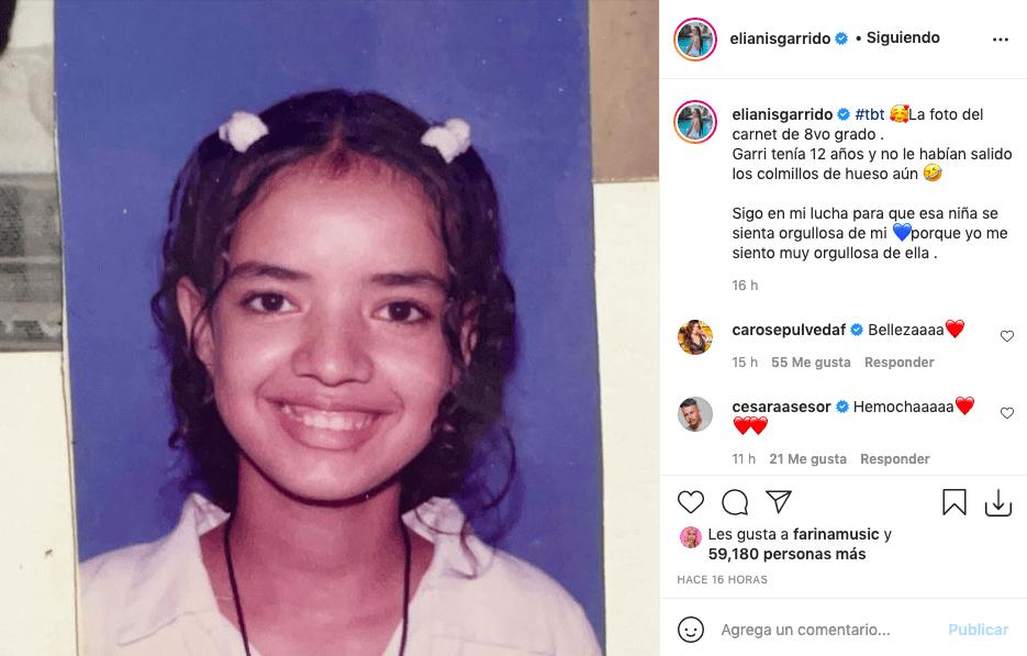 Elianis Garrido despierta opiniones tras mostrar foto de su niñez