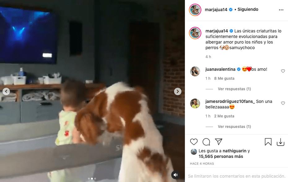 Samuel, hijo de James Rodríguez, protagoniza tierno video con su mascota