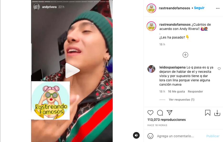 Por comentario de Andy Rivera fans dicen que no ha superado a Lina Tejeiro