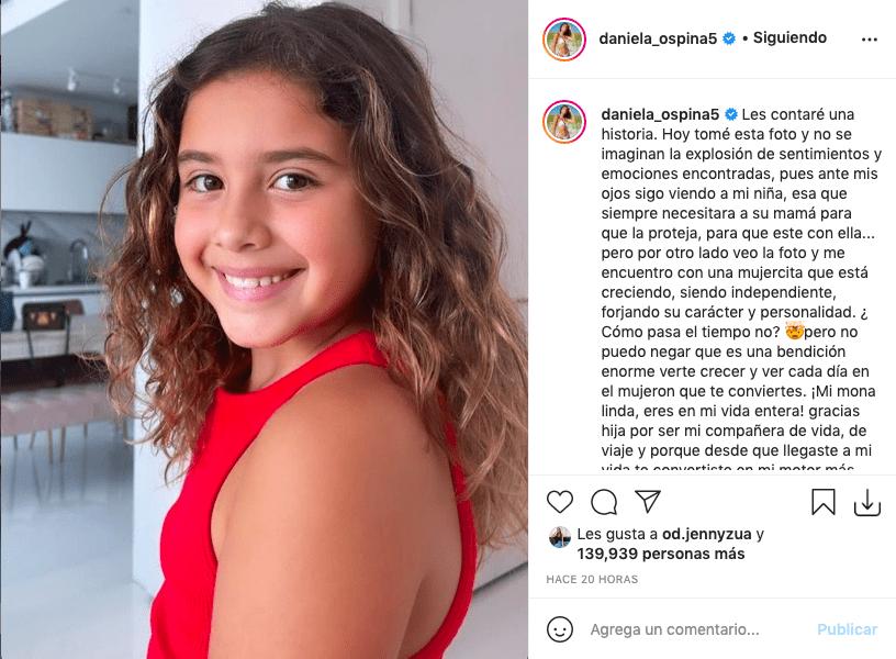 Daniela Ospina publica foto de Salomé donde luce idéntica a James Rodríguez