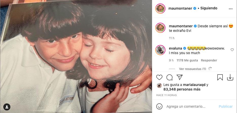 Mau Montaner comparte inédita foto de Evaluna en su niñez