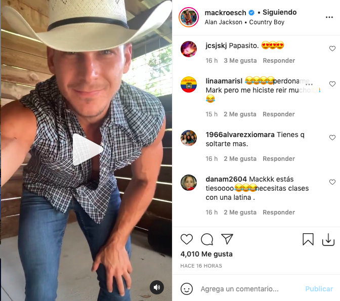 Exnovio de Jessica Cediel recibe críticas por mostrar sugerente baile como vaquero
