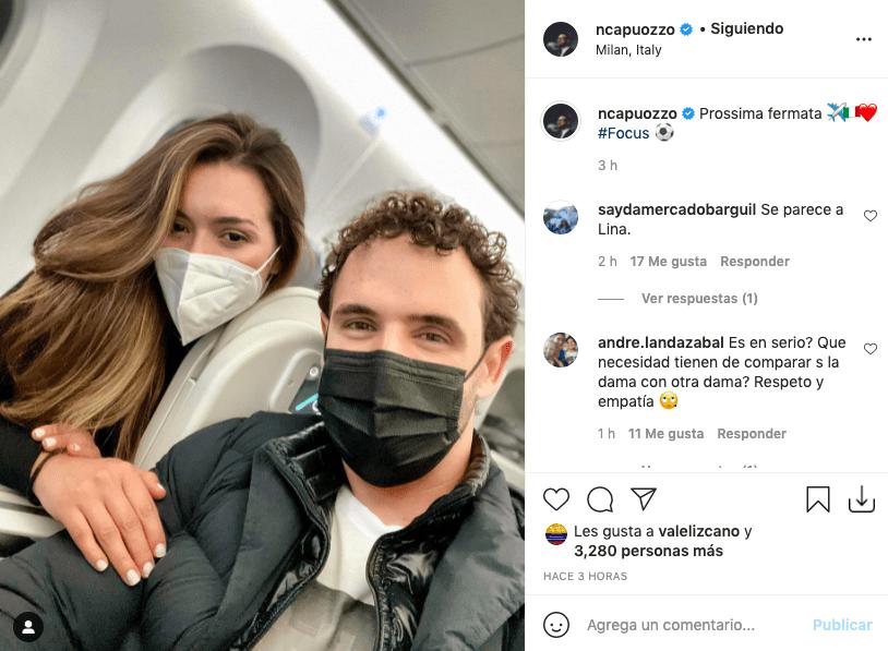 Norman Capuozzo posa con quien sería su novia y la comparan con Lina Tejeiro
