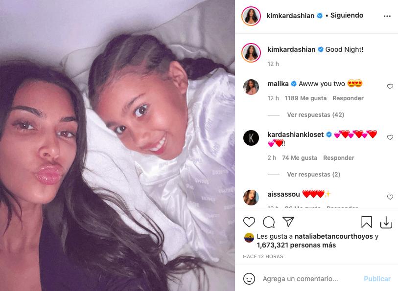 Kim Kardashian y la foto antes de dormir que criticaron por sus ojeras