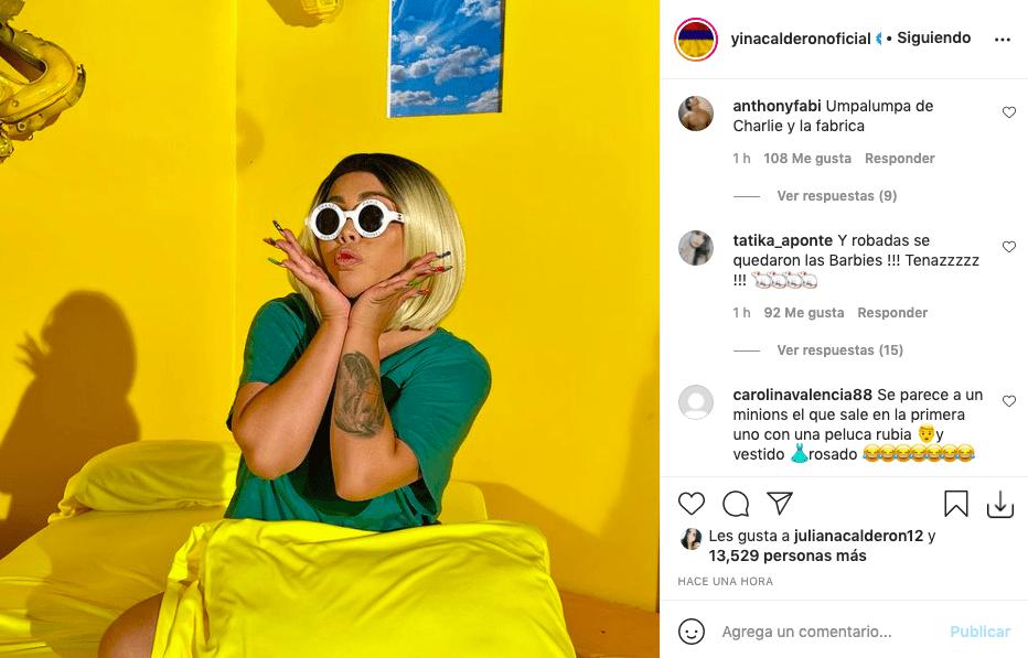 Yina Calderón publica foto y es comparada con Minion y Oompa-Loompa